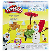 Игровой набор и пластилин Летние приключения Олафа Play-Doh, 5 баночек B3401