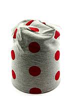 Трикотажная шапка двойная детская и подростковая 48-55р