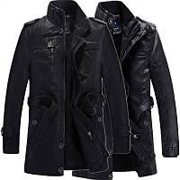 еко-шкіряні чоловіча куртка осінь-зима молодіжна куртка комір стійка