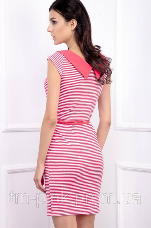 16cb02d1ea9efe Сукня смугаста з коміром червона червоний, m, цена 799 грн., купить ...