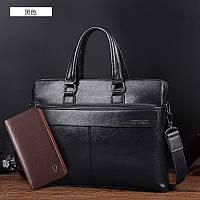 кенгуру деловая сумка,мужской кожаный портфель классический , фото 1