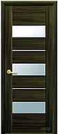 Дверь МОДА ЛИЛУ Экошпон. венге 3D, дуб жемчужный, кедр, ясень патина, сандал. (стекло сатин) тип1