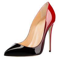 жіночі туфлі підбори 12 см подвійний колір