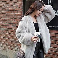 Імітація хутра норки вільного крою коротка жіночі куртки, пальто шубка