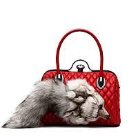 Меховые сумки глава Fox меха сумка Европейская и американская мода , фото 1
