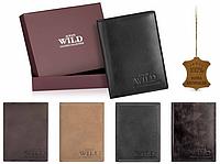 Мужской Кожаный кошелёк бренд Always Wild Польша