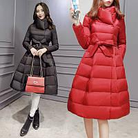 женская куртка пуховик расклешенный низ 2 цвета