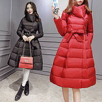 жіноча куртка пуховик розкльошений низ 2 кольори