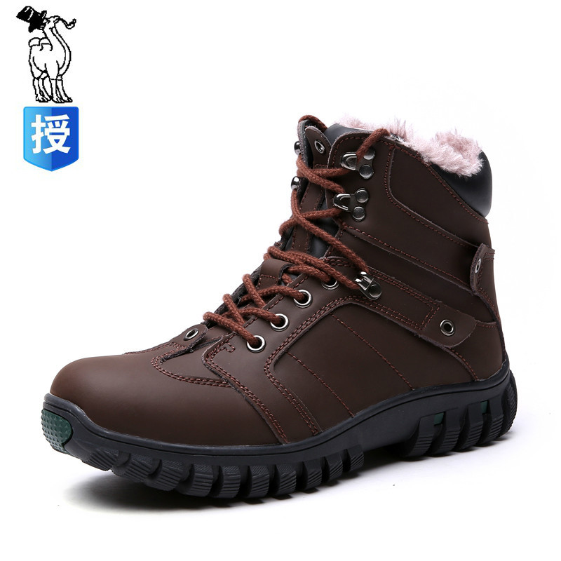 309674e9b7e2 мужская обувь зима натуральная кожа ботинки плюс бархат водонепроницаемые -  Интернет-магазин