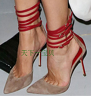 Жіночі босоніжки шнурівки