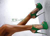 жіночі босоніжки ультра на високому каблуці подіум