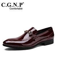 Английский стиль кожаные классические мужские туфли , фото 1