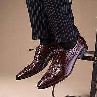 Европа британский стиль кожа под крокодила бизнес туфли, фото 1