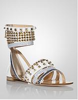 На плоском ходу женские босоножки сандалии камни, фото 1