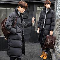 удлиненная куртка пуховик мужская до колен, фото 1