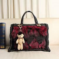 женская меховая сумка лисий мех