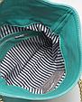 Кожаная сумочка-клатч POOLPARTY с цепочкой красная, фото 3