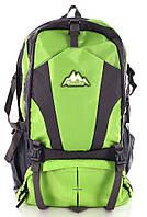 Практичный горный рюкзак из нейлона/полиэстера 34 л. Mountain backpack baijawei green зеленый/серый