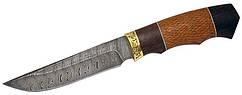 Нож с фиксированным клинком Мангуст ,дамасская сталь