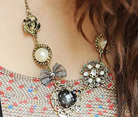 Ожерелье Роуз бронза/бижутерия/цвет бронза