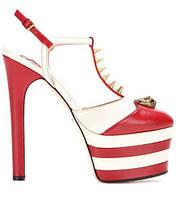 Подиум брендовые женские босоножки высокие каблуки 3 цвета , фото 1