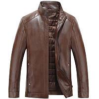 кожаная куртка мужская плюс хлопок толстые , фото 1