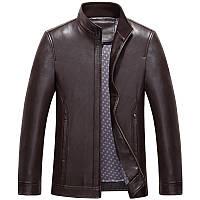 Эко-кожа куртка мужская  воротник стойка, фото 1
