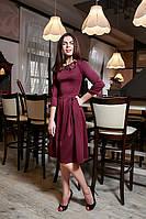Элегантное платье с красивой аппикацией из цветов