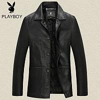 кожаная одежда мужская кожаная куртки пиджак осень /весна