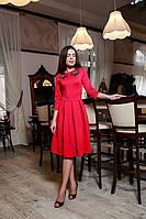 Отличное коктельное платье со складками на юбке