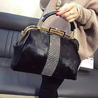 Женская сумка конский волос натуральный мех 3 цвета, фото 1