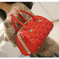 Дамы сумки Бостон женщины сумка Европейский и американская мода новый Алмаз-шипованных Сумка 2 цвета в остатке