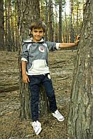Модные Брюки для мальчика джинсового типа (синие)