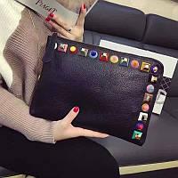 Клатч женская кожаная сумка