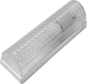 Светильник, пластик, белый, Е27, 20W, 215х71х65мм, IP20, Б-008, (01-71-38) шт.