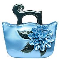 Лакированная сумка большие цветы,яркие цвета 8 расцветок, фото 1