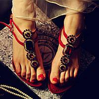 отдыха у моря шлепанцы кожаные плоские горный хрусталь камни сандалии 2 цвета