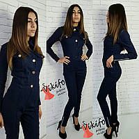 Женский джинсовый комбинезон у-2010480, фото 1