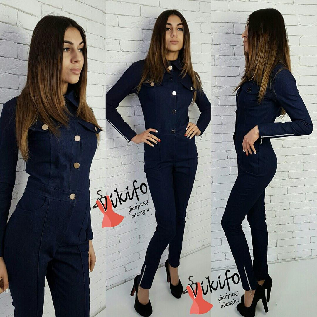 Женский джинсовый комбинезон у-2010480