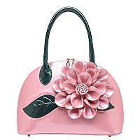 Лаковая женская сумка цветок 9 расцветок, яркие стильные, фото 1