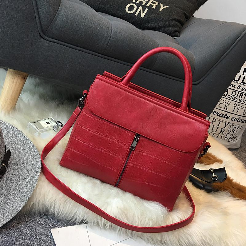 1ba737927767 Простая и стильная большая женская сумка 4 цвета - Интернет-магазин