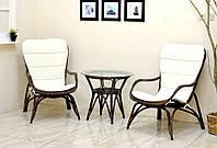 """Комплект плетёной мебели для сада """"Дрим"""" (столик+2 кресла)"""