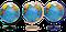 Глобус 260мм политический и физический с подсветкой