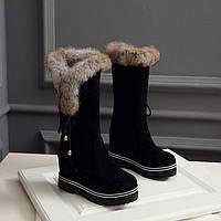 2016 зима новый колено высокие ботинки женские длинные сапоги теплые