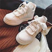 2016 осень новые белый кеды женские с толстой подошвой туфли на платформе 2 цвета, фото 1