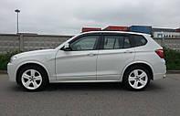 Дефлекторы окон (ветровики) BMW X3 2010-