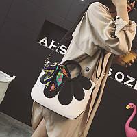 Большая сумка апликация цветок 2016 женская сумка 2 цвета, фото 1