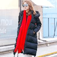 Пуховик-куртка женская длинная свободного покроя, фото 1