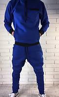 Мужские молодежны  тёплые спортивные брюки. Зауженные до колен., фото 1