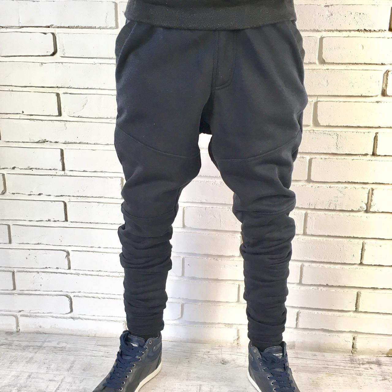1d54c462 Мужские молодежны тёплые спортивные брюки. Зауженные до колен. -  Интернет-магазин ОПТОМ от